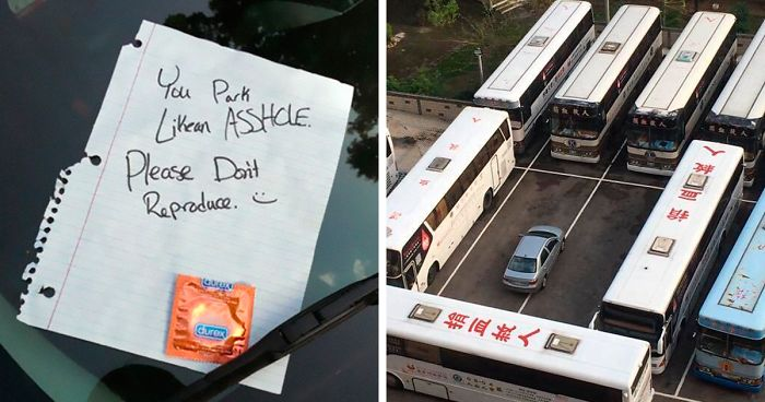 15+ Of The Best Notes Left For Asshole Drivers Who Don't Know How To Park