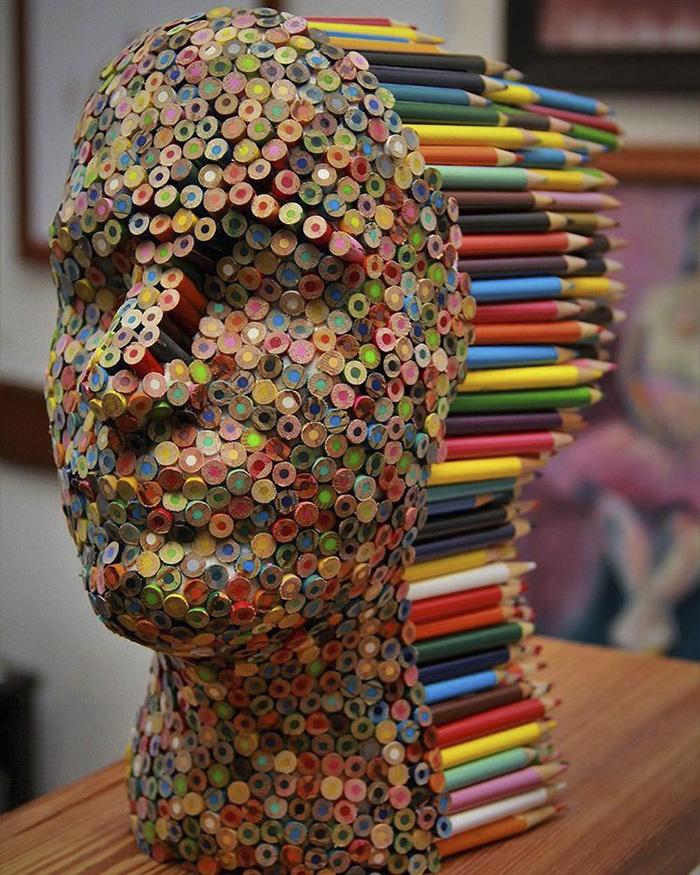 ///Arte sin limite/// Pencil-sculpture-color-blind-molly-gambardela2-580dbf0eb7853__700