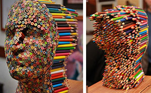 Color Blind: Colorful Pencil Sculpture By Molly Gambardella