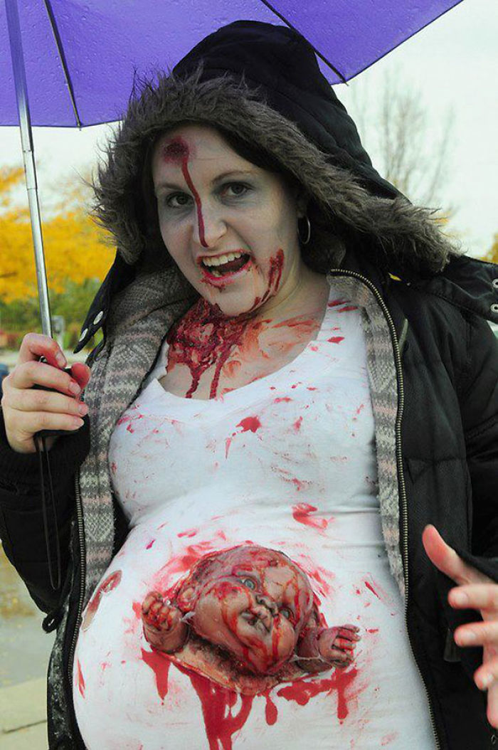 My Pregnant Friend's Costume For Halloween