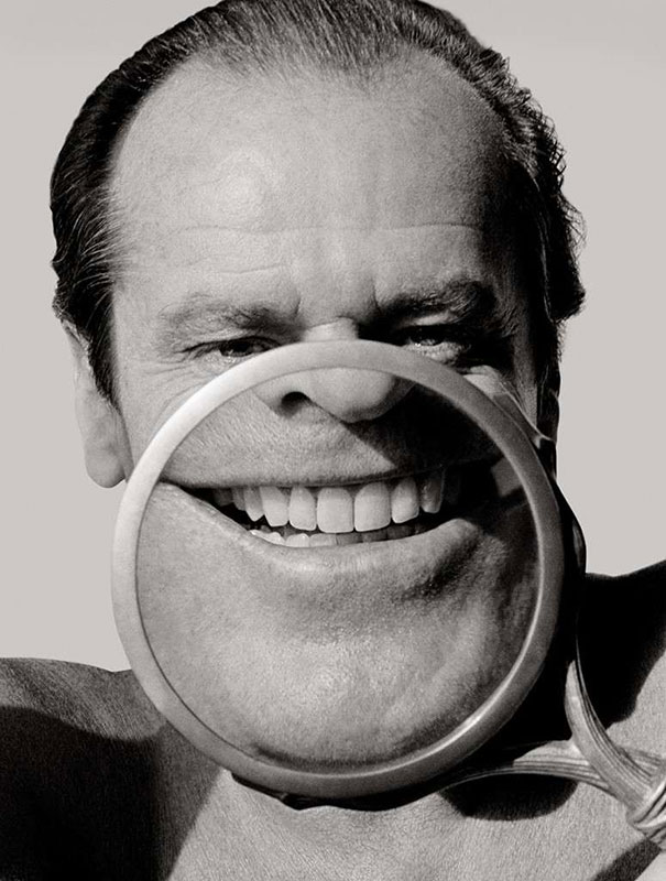 Jack Nicholson With A Magnifying Glass, 1986