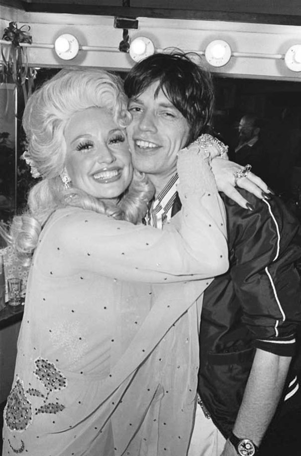 Dolly Parton And Mick Jagger After Her Concert At The Bottom Line, 1977