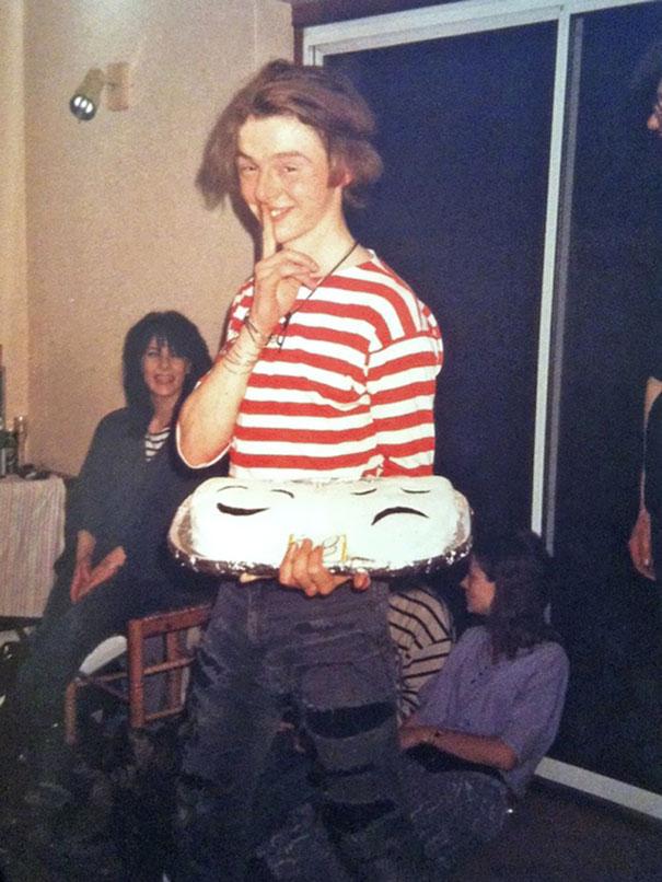 Simon Pegg At Age 18