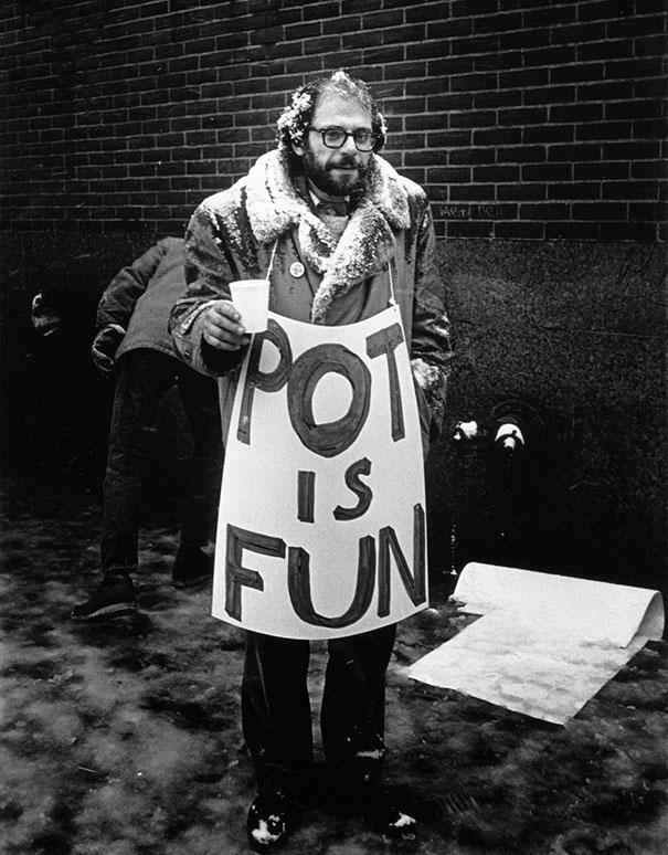 Allen Ginsberg At Marijuana Ralies, Mid-60's