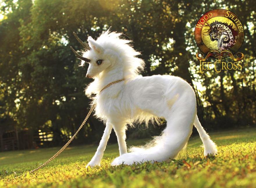 Handmade, Fully Poseable Unicorn