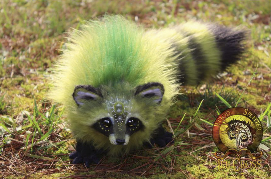 """Olive,"" The Baby Green Raccoon"