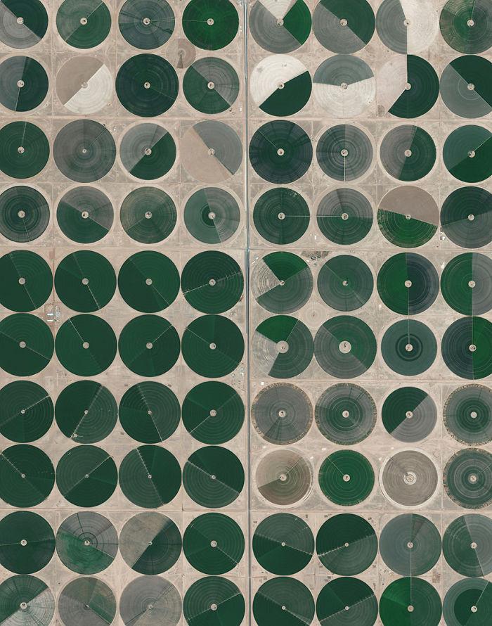 Pivot Irrigation Fields, Wadi As-Sirhan Basin, Saudi Arabia