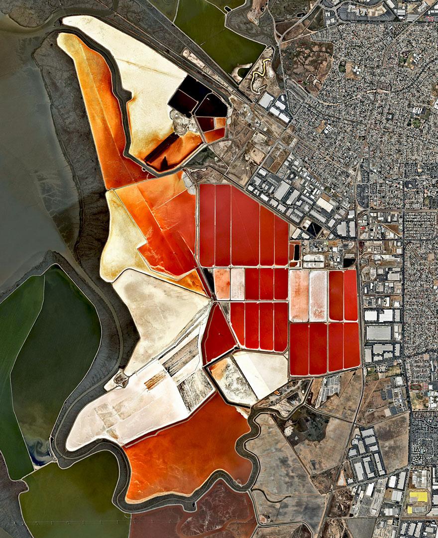 Salt Ponds, San Francisco Bay, California, USA