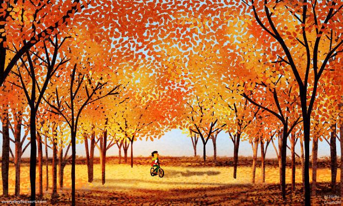 I Express My Love For Autumn Through My Art