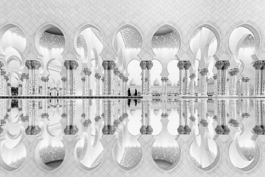Second place architecture category, women reflection