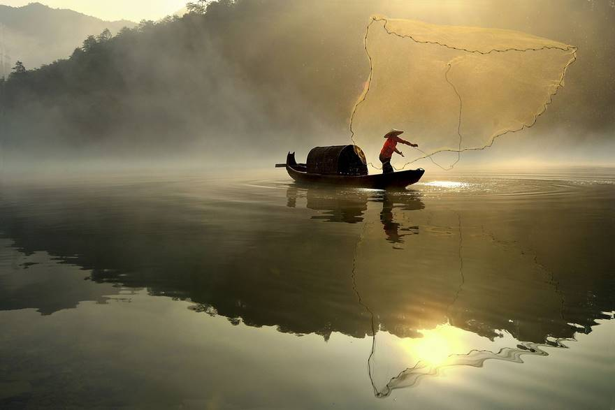Pesca de la mañana (Premio notables en abierto de color)