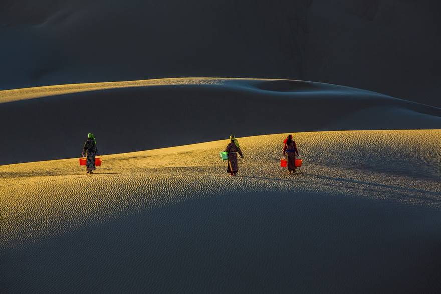 Sisters In Desert (Honorable Mention In Open Color Category)