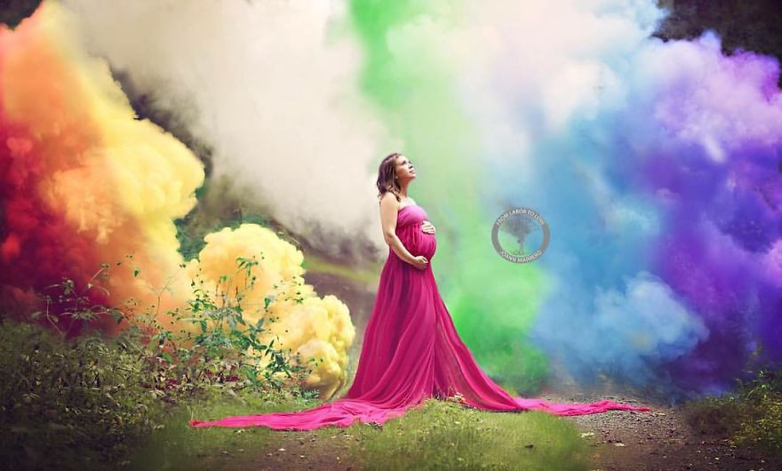 After 6 Miscarriages, Mom Finally Celebrates Rainbow Baby With Explosive Photoshoot