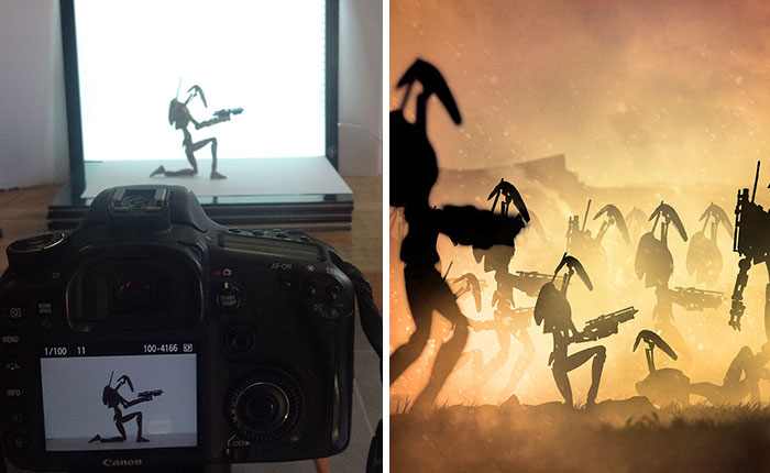 Star Wars Planets That I Made By Photographing Action Figures