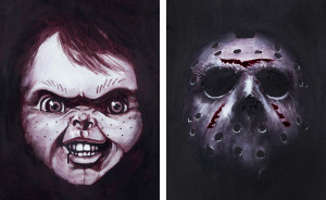 I Used Wine To Paint These Slasher Film Tributes