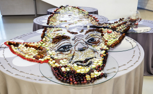 Our Portrait Of Yoda Can Only Be Seen From One Angle (but You Can Eat It From Any Side)