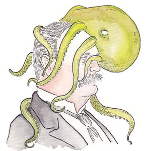 I Drew Portraits Of Every U.S. Vice President With An Octopus On His Head