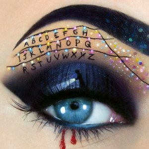 I Create Halloween Make Up Using Eyes As My Canvas