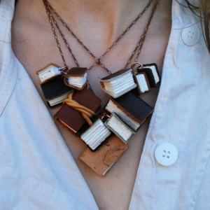 My Friend Makes Miniature Notebooks That You Can Wear As A Library Around Your Neck