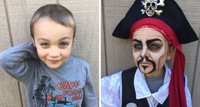 Transforming A Boy Into A Pirate