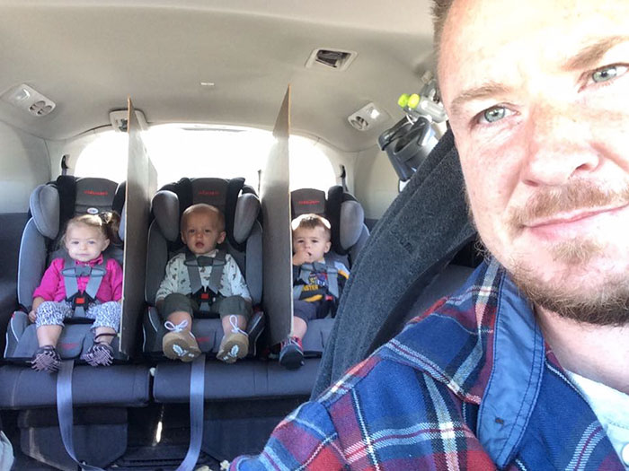 Genius Dad Of Triplets Finds A Perfect Way To Stop Backseat Fights