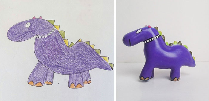 Children's Drawings Turned Into Figurines (27 Pics)