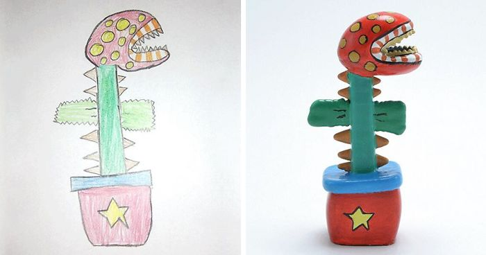 Children's Drawings Turned Into Figurines (10+ Pics)