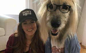 Woman And Her Dog Dress Like Wayne's World Characters for Halloween, Totally Nails It