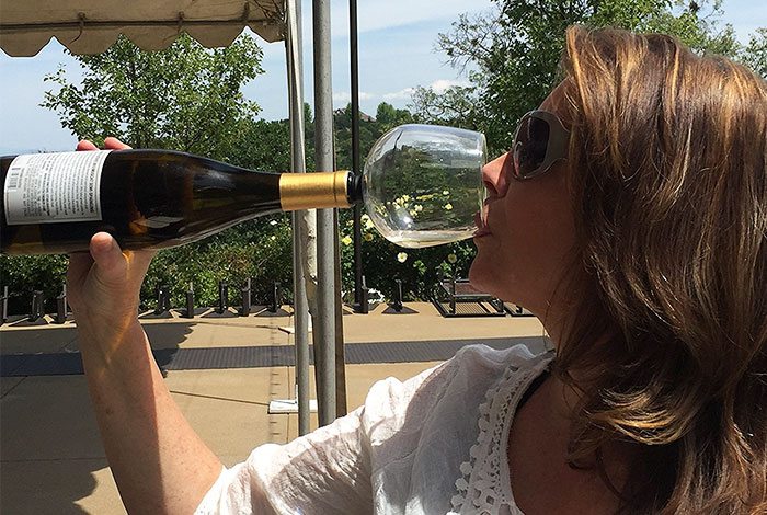 Wine Glass That Attaches To The Bottle So You Could Drink Straight From It Without Shame