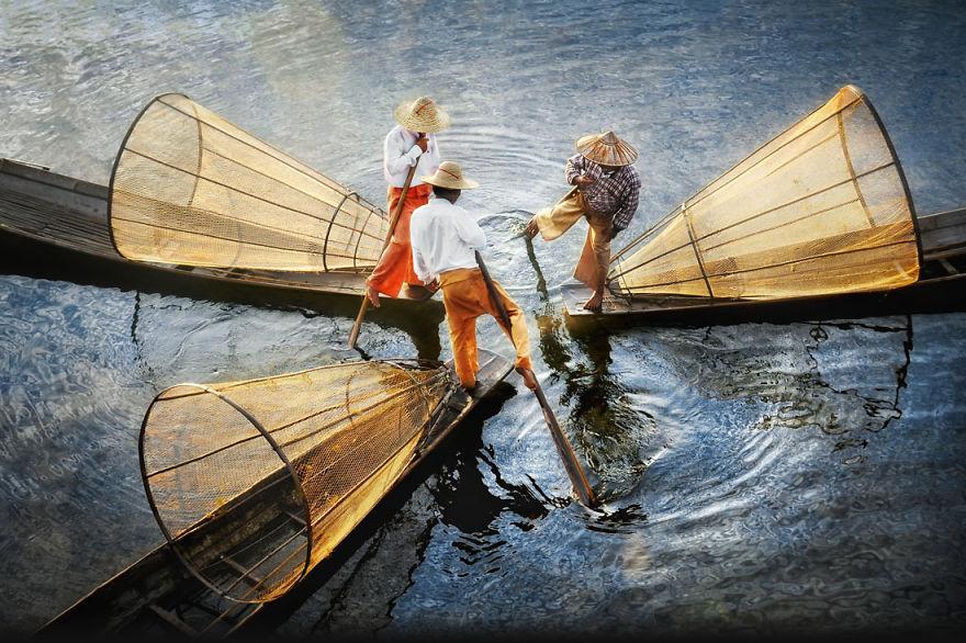 Intha Fishermen, Inle Lake