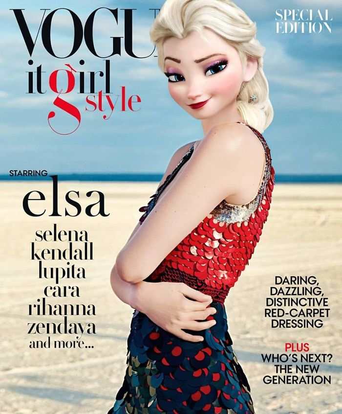 Elsa As Gigi Hadid