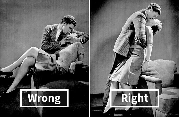 1940s Kissing Guide Shows How To Kiss Correctly