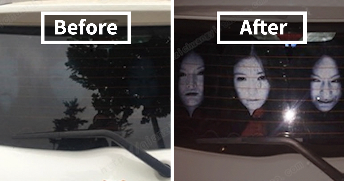 Japanese Car Stickers >> Drivers Are Using Terrifying Reflective Decals On Rear Windows To Fight Against High-Beam Users ...