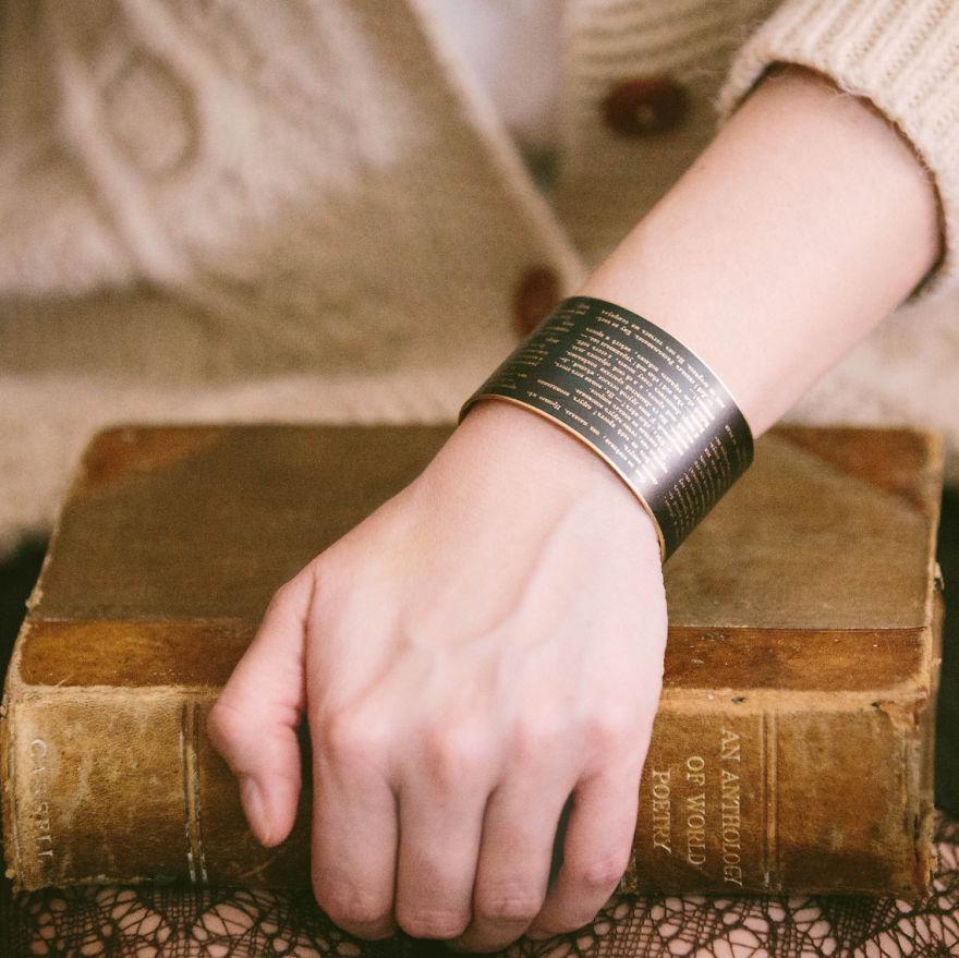 Literary Quote Cuff Bracelet