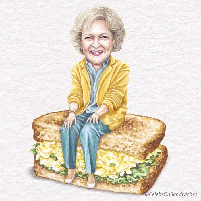 Betty White On An Egg Salad Sandwich
