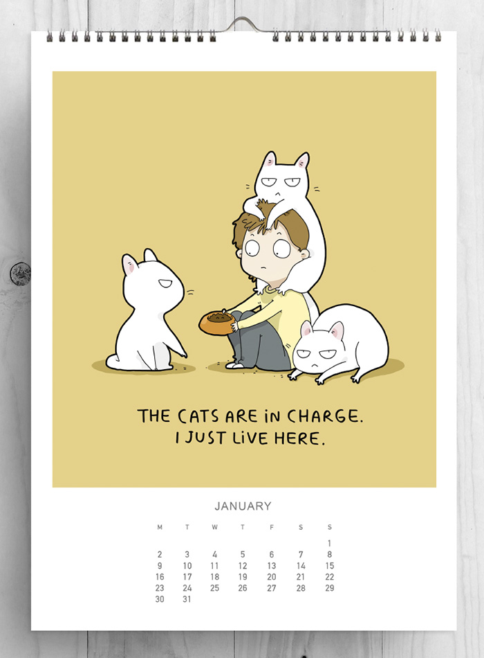 I Created A Cat Calendar To Make 2017 The Most Purrfect Year Ever ...