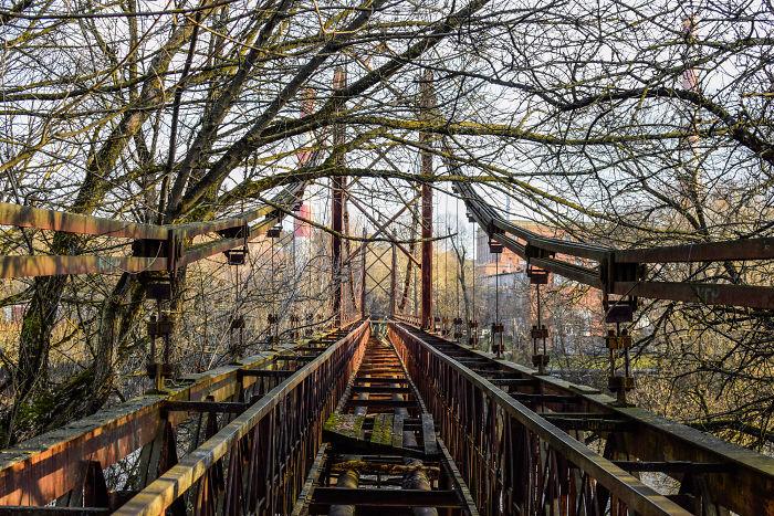 Abandoned Bridge In Vilnius, Lithuania