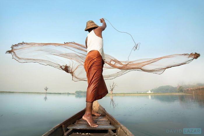 Fishermen Casting Net, Amarapura