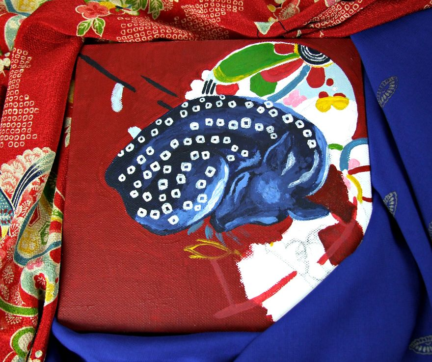 Shibori Fawn, Inspired By Japanese Fabrics