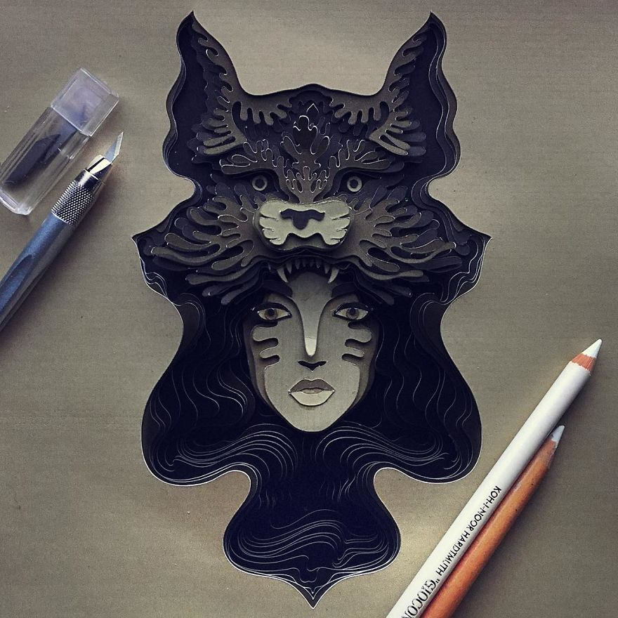 Delicate Animal Papercuts That I Create To Explore The Animal Form
