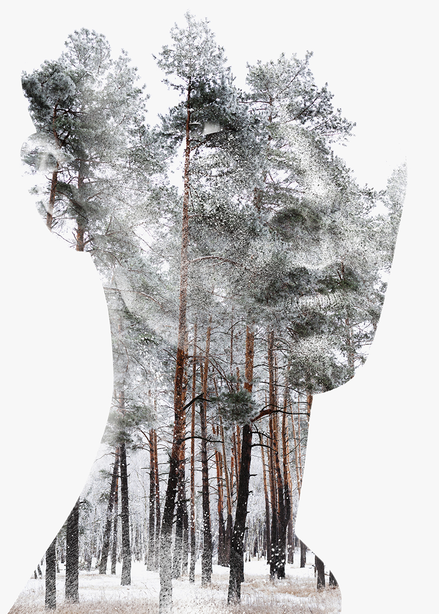 I Combine Animals And Landscapes In My Double Exposure Artwork