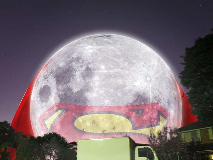 Super Moon From Sydney Backyard