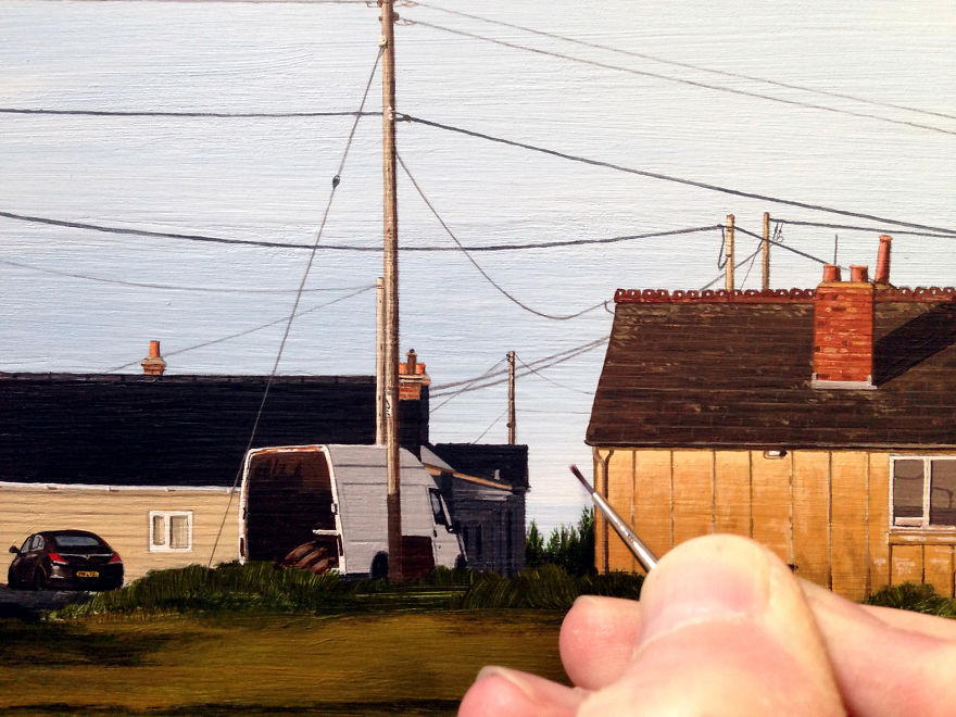 I Paint Hyper-Detailed Realistic Paintings Of Urban Landscapes