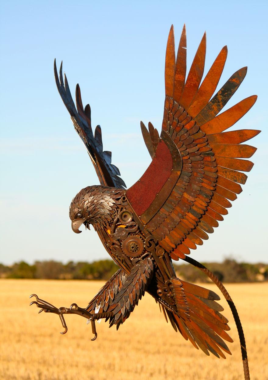 I Turn Scrap Metal Into Life Size Animal Sculptures