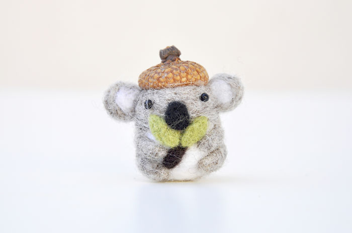 I Made Tiny Berets For My Needle Felted Animal Ornaments