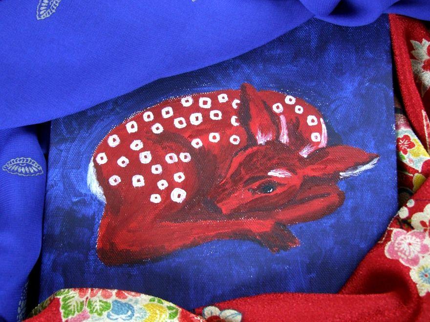 Red Shibori Fawn