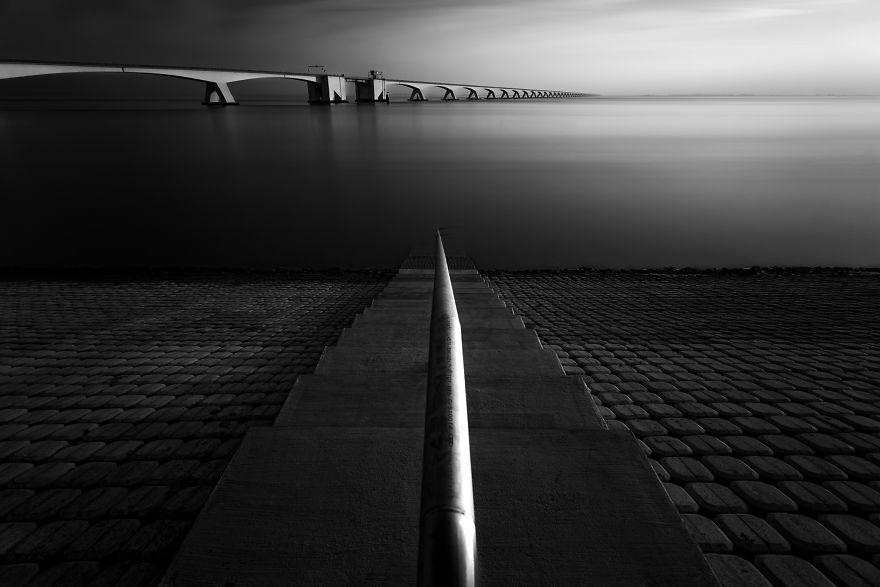 The Zeeland Bridge In The Netherlands