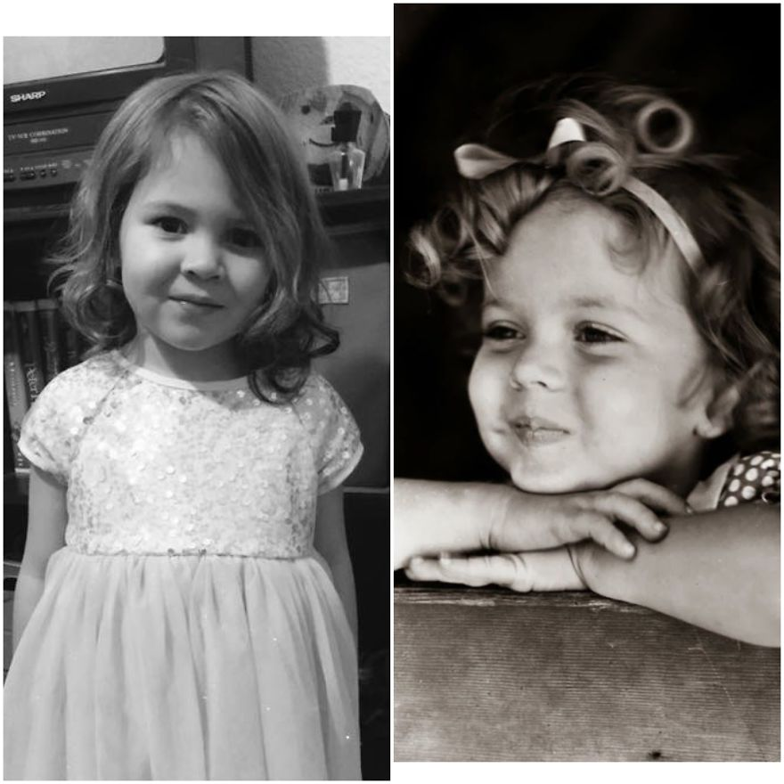 Even When Her Curls Were Combed Out, My Grand Daughter , Paisley , Looks Like Shirley Temple To Me
