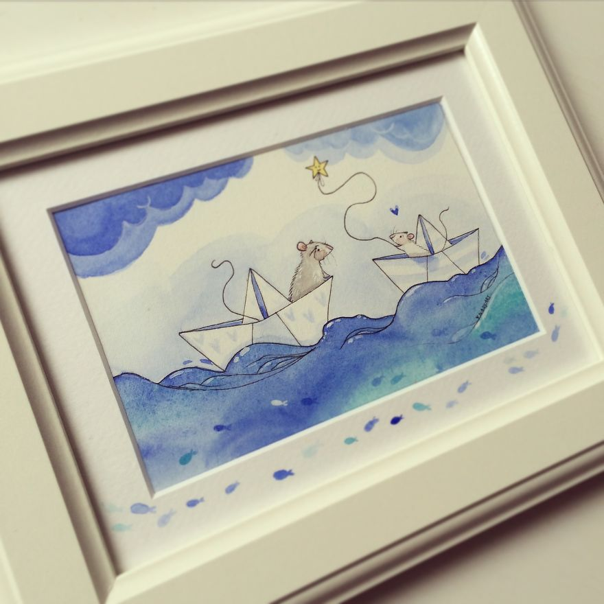Sailing - Water Colour Painting By Nadyart