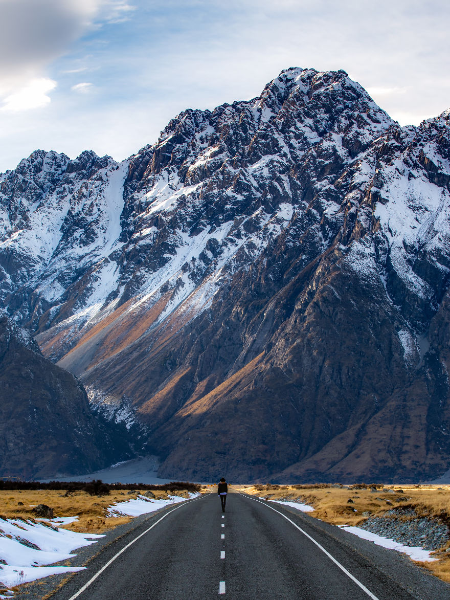 Just One Of The Mountains You Are Faced With When Driving To Tasman Glacier (mount Blackburn), Mount Cook National Park